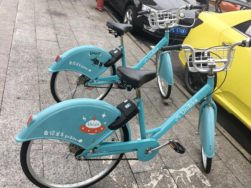 「共享单车」(Gòngxiǎng dānchē:シェア自転車)のニューフェイス
