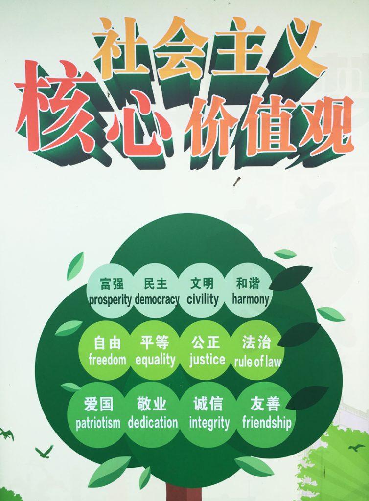 社会主义 核心价值观(Shèhuì zhǔyì héxīn jiàzhíguān)